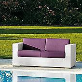 Varaschin Cora 2 Seater Sofa by Varaschin R and D - White - Panama Castoro