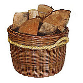 Large Kendal Log Baskets with Rope Handles