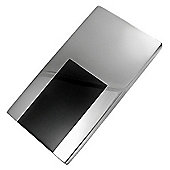 Urban Male Stainless Steel & Black Resin Modern Men's Money Clip