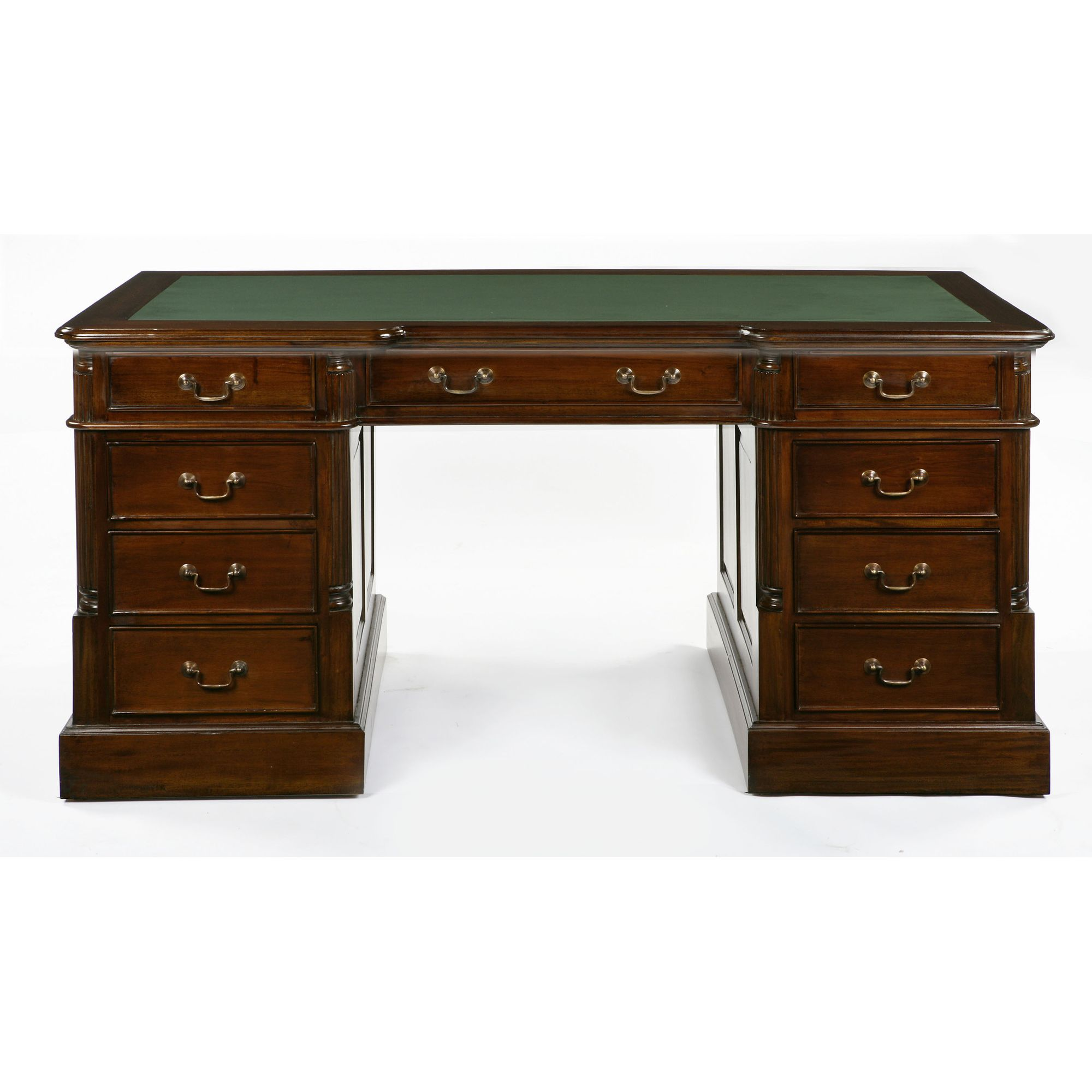 Anderson Bradshaw Victorian Twin Pedestal Desk in Mahogany at Tesco Direct