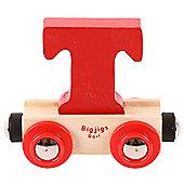 Bigjigs Rail Rail Name Letter T (Red)