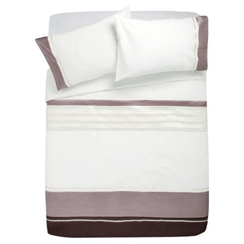 Tesco Cosmo Double Duvet Cover Set, Natural