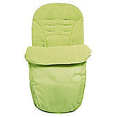 Claire De Lune Showersnugg Footmuff in Lime