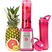 Andrew James Sports Smoothie Maker Personal Blender in Pink