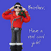 Holy Mackerel Happy Yule Brother. Greetings Card