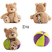 Buddy Ball Plush Mocha Coloured Bear Eva