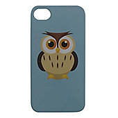 Tortoise™ Hard Protective Case, iPhone 4/4S. Blue with Owl design