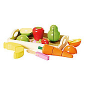 Carousel  Wooden Vegetable and Fruit Set.