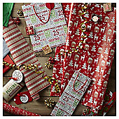 Cosy Christmas Wrapping Paper and Accessories Pack