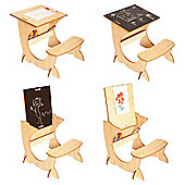 Little Helper 3 In 1 Wooden Artstation Infant Desk In Maple