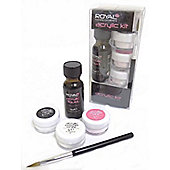 Royal Nail Acrylic Kit With Brush, Acrylic Liquid 15ml & 3X Acrylic Powder 5g