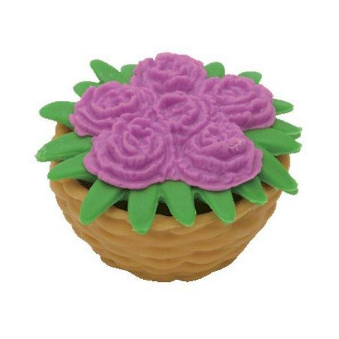 VIOLET Flower Basket - Puzzle Eraser - TY Beanies