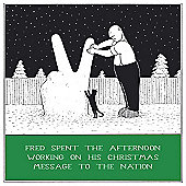 Holy Mackerel Greeting Card - Christmas Card - Message to The Nation at Xmas