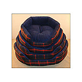 Top Pet Soft Tartan Dog Bed - 81 cm