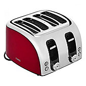 4 Slice Toaster with High Lift Facility & ThickThin Slots in Red