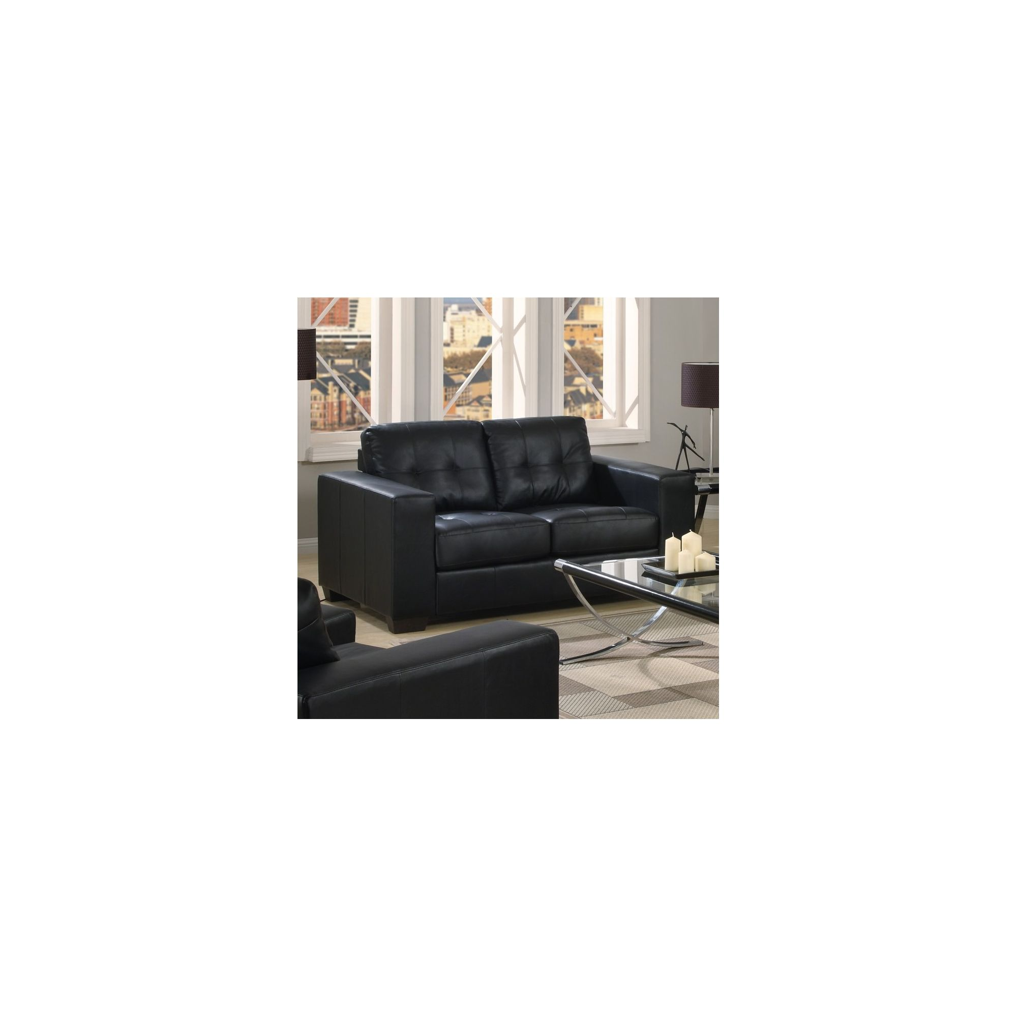 Furniture Link Gemona 2 Seater Sofa - Black at Tesco Direct