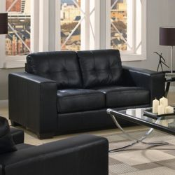 Furniture Link Gemona 2 Seater Sofa - Black