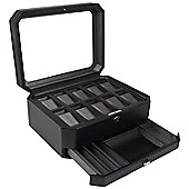 Wolf Designs Ten Piece Watch Box with Cover and Valet