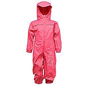 Regatta Kids Puddle III All In One Waterproof Rain Suit - Pink