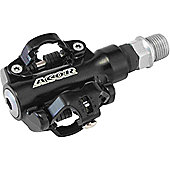 Acor Alloy MTB SPD Pedals. Black, SPD Compatible, With Cleats