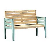 Norfolk Leisure Florenity Bench in Teak / Green - 85 cm H x 117 cm W x 62 cm D
