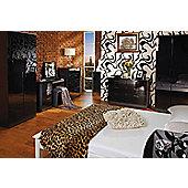 Welcome Furniture Mayfair Tall Plain Wardrobe - Ebony - Cream - Black