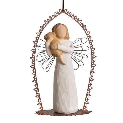 Enesco Willow Tree Angel Of Friendship Trellis Ornament