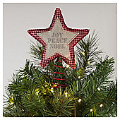 Tesco Joy Peace Noel Tree Topper