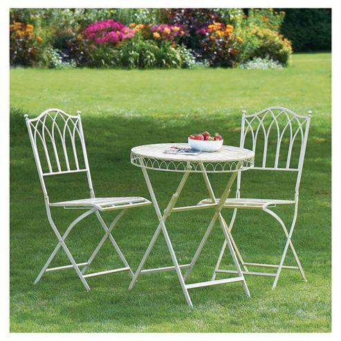 Buy Versailles Bistro Set Antique Cream From Our Metal Garden Furniture Range Tesco