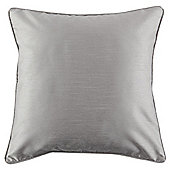 Tesco Faux Silk Grey Cushion
