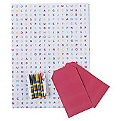 Crossword puzzle 2 sheets, 2 tags
