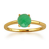 Gemondo Amour Damier 9ct Yellow Gold 0.72ct 4 Claw Set Checkerboard Emerald Ring