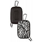 Compact Camera Case Zebra Print
