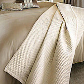 Kylie Minogue 'Alba' Oyster Satin Quilted Sequin Throw, 150 x 220cm