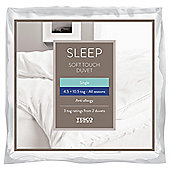 Tesco Soft Touch Anti Allergy Duvet 4.5/10.5 Tog All Seasons Duvets Single
