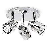 Benton Three Way Ceiling Spotlight in Chrome