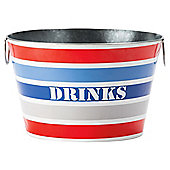 BLUE STRIPE DRINKS BUCKET