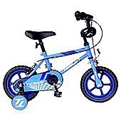 "Terrain 12"" Kids' Bike with Stabilisers, Blue"