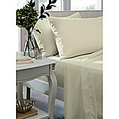 Catherine Lansfield Non Iron Percale Combed Poly-Cotton Fitted Sheets in Cream - Single
