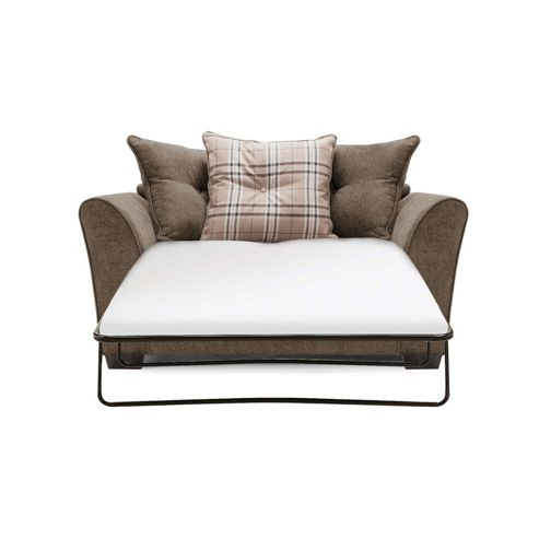 Buy aprilia scatter back sofabed brown from our sofa for Sofa bed tesco