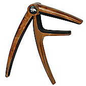 Tiger Capo for Guitar - Quality Acoustic & Electric Trigger Capo - Dark Wood