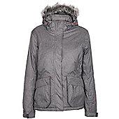 Silver Summit Womens Winter Ski Snowboarding Jacket Coat - Grey