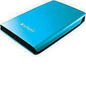 "Verbatim Store 'n' Go 53026 500 GB External Hard Drive, Caribbean Blue, USB 3.0, 5400 rpm, 8 MB Buffer, 2.5"""
