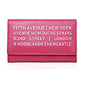 Personalised Pink Destinations Leather Purse