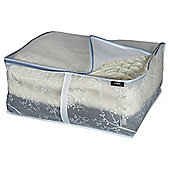 DomoPak Medium Blanket Storage Box, White Leaf