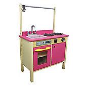 Teamson Kids Bubblegum Pink Wooden Kitchen