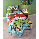Cut The Rope Nom Nom Single Duvet Set