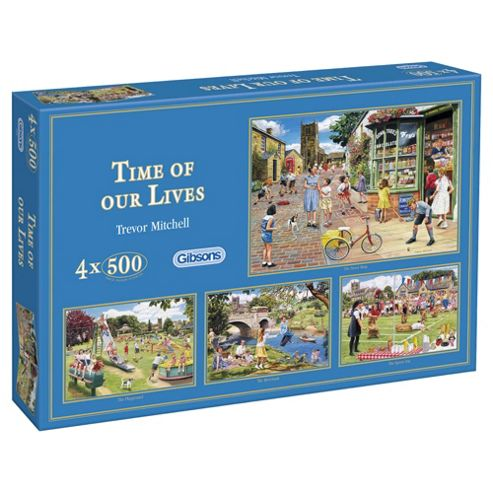 Gibsons Time of Our Lives 4 x 500-Piece Jigsaw Puzzles