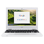 "Acer 11.6"" Chromebook 11 Intel Celeron 2GB RAM 16GB eMMC Storage White"