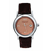 """Cross Chicago Men's Round, stainless steel/leather Watch"""